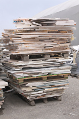 Pallet of marble