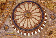 Blue mosque interior.