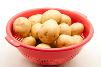 Potatoes in the sieve