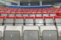 Empty seats on ice arena