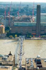 Millenium Bridge and Tate Modern, London