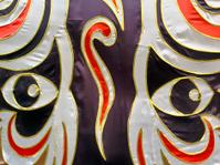 Singapore, large-scale Chinese Opera mask.