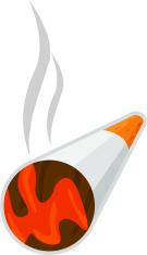 lighted cigarette
