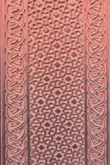 original decoration on the wall at agrafort of agra india