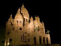 The Sacre Coeur basilica of Montmartre, Paris.