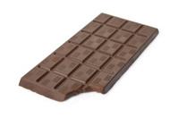 Bitten dark chocolate bar