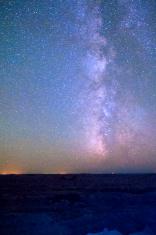 Starry Sky and a Milky Way Nebula