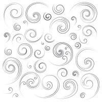 Ornate swirl designs