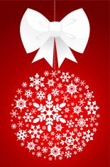 Christmas Tree Ball Decoration Made With Snowflake Icons