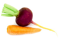 Red radish and carrots
