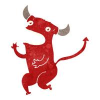 retro cartoon dancing devil