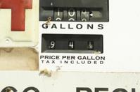 Vintage Old Gas Pump, When Fuel was $.94 a Gallon