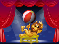 lion king performing on stage