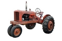 Rustic Old Tractor Isolated
