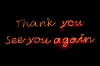 Neon light : Thank you