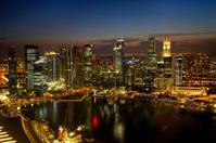 Singapore City Skyline at Dusk