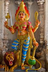 Hindu Goddess Durga on Lion