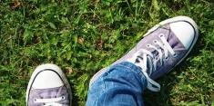 lilac shoe