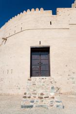 wooden door into arabian fortress