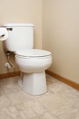 Generic white toilet in bathroom