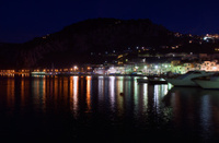 Capri Island Italy Marina at Night