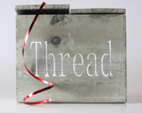Wooden thread box