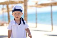 Portrait of a boy on the beach