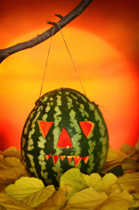 Halloween  watermelon lantern