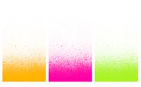 gentle sprayed graffiti gradient in pink,green and orange
