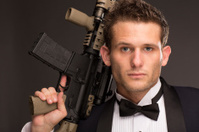 Well Dressed Man with AR 15