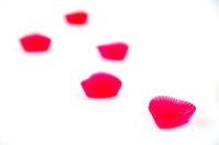 Red jellies in heart shape