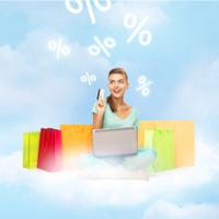 woman doing internet shopping