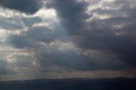 Cloud-scape over the Dead Sea in Jordan