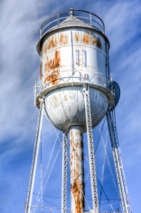 Old Rusted and Abandoned Water Tower -- HDR