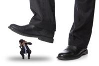 steping on a fear man