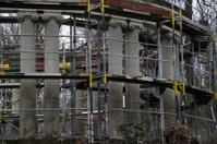Construction work on the pillars Rondell Bad Eilsen