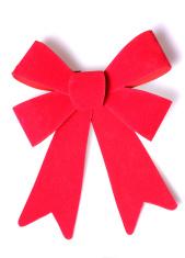 Christmas bow cutout