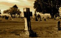 Cemetery Tombstone in Sepia Tones