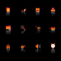 Black Web Tools Icon Set