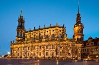 Dresden Hofkirche in the evening