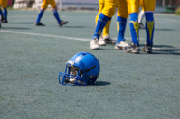 helmet player in college football