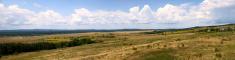 Panorama of Bulgarian fields