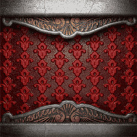 metal on red background