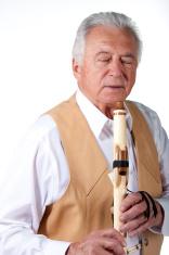 senior with flute