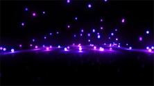 pruple bouncing light balls background