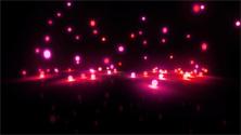 magenta Bouncing light balls wide