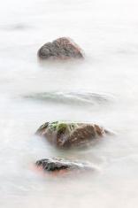 Rocks in soft water