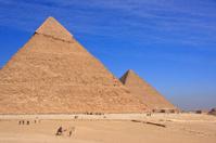 Pyramids of Khafre and Khufu, Cairo, Egypt