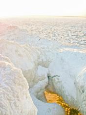 ice cavern on Lake Michigan