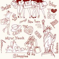 hopping in new york doodles